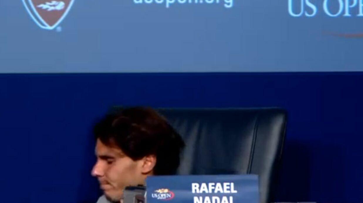 VIDEO Rafael Nadal fait un malaise en conférence de presse
