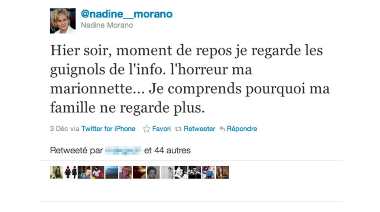 Nadine Morano vexée par les Guignols de l'info