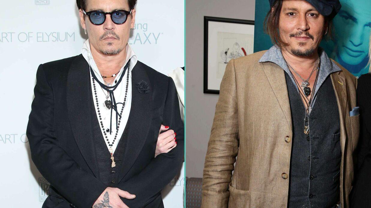PHOTOS En seulement un an, Johnny Depp a bien forci