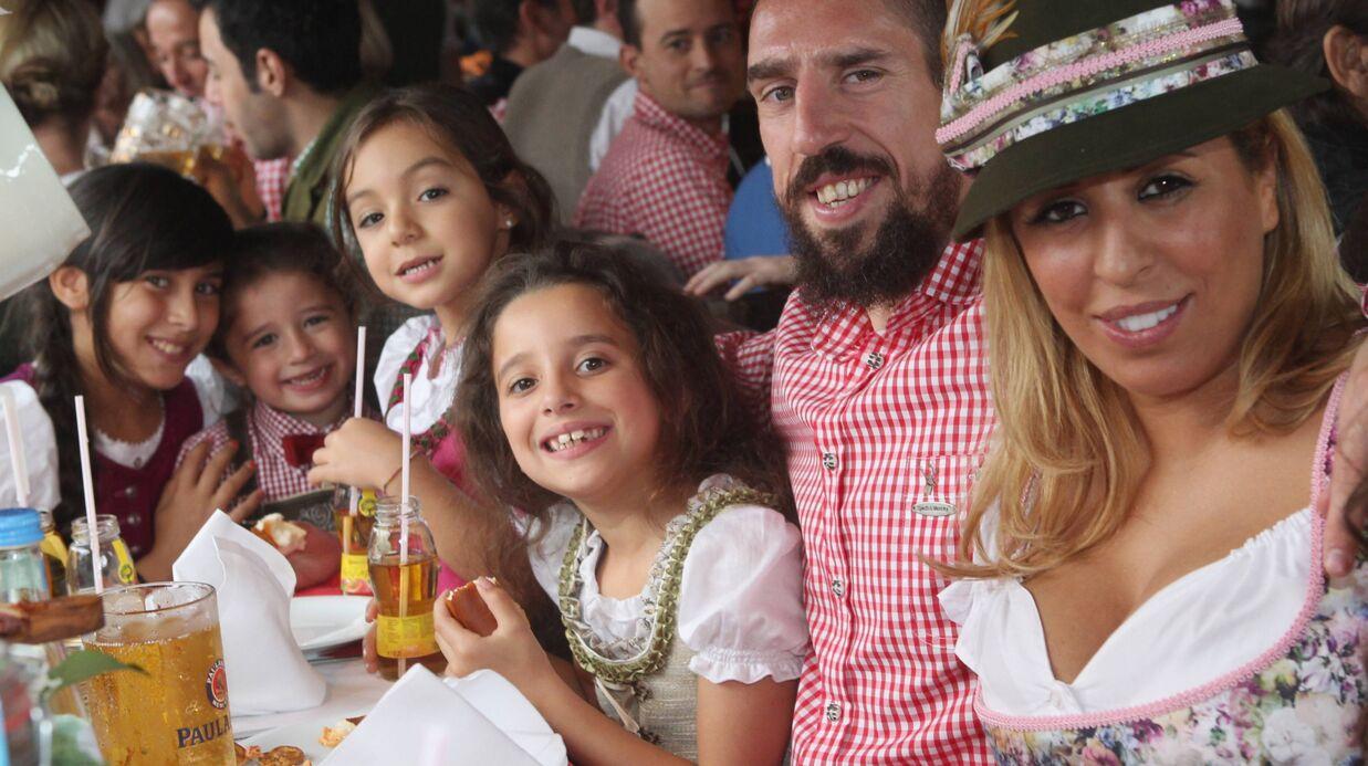 PHOTOS Franck Ribéry avec sa femme Wahiba et leurs trois enfants à la fête de la bière