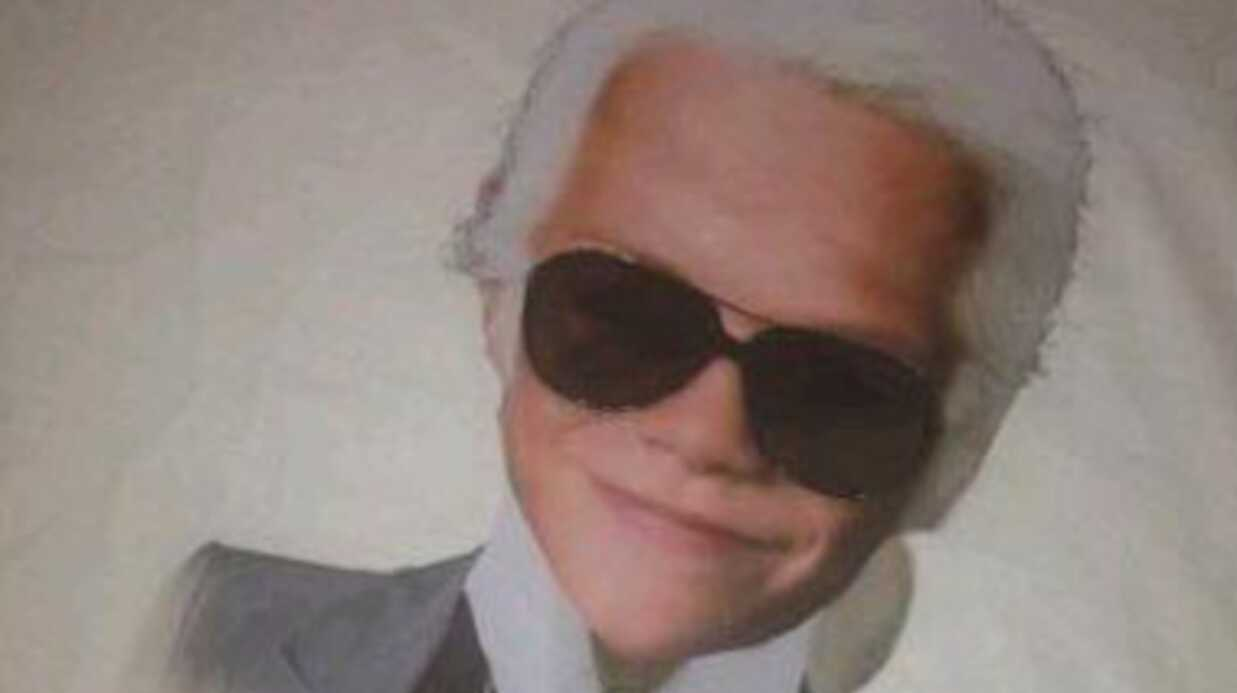 Victoria Beckham très amusée par un photo-montage de son fils en Karl Lagerfeld