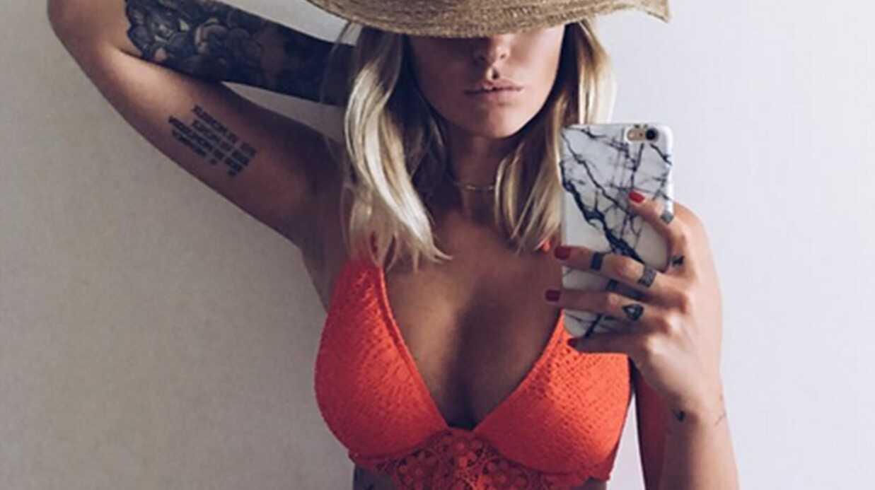 PHOTO Caroline Receveur torride dans son bikini orange
