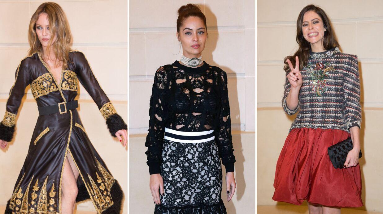 PHOTOS Défilé Chanel: Vanessa Paradis joueuse, Marie-Ange Casta sublime, Anna Mouglalis déchaînée