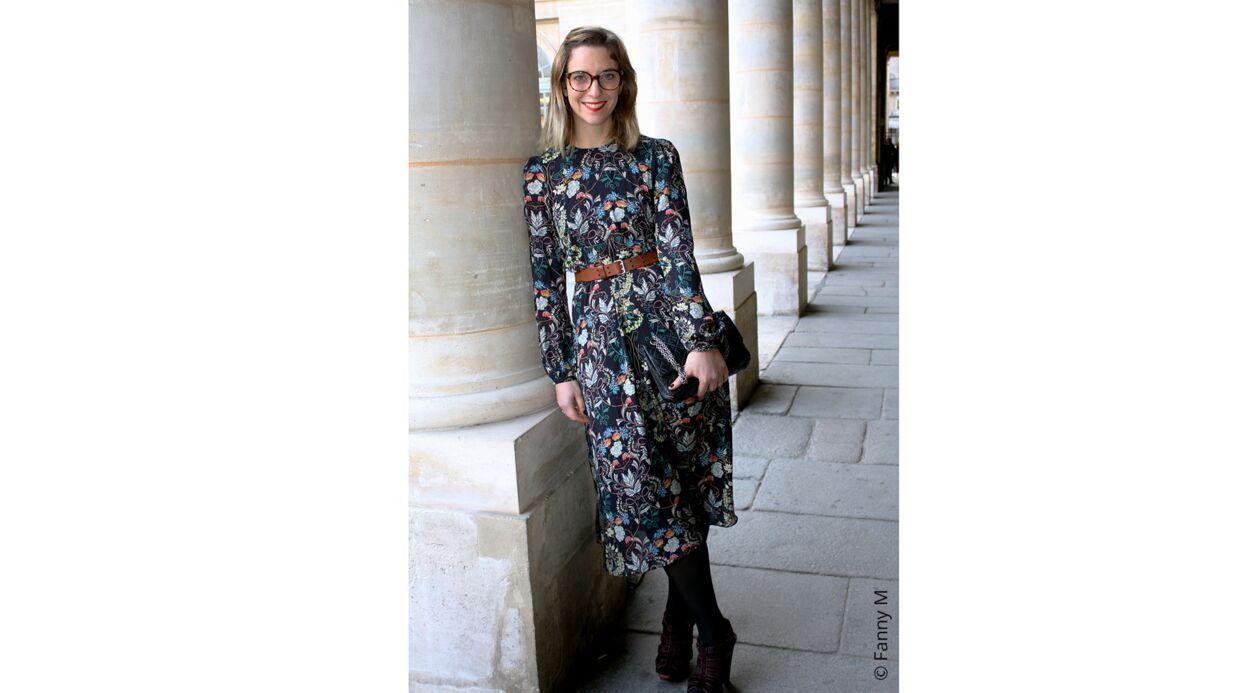 Mode #le-défi-de-Virginie: Comment porter des fleurs en hiver?