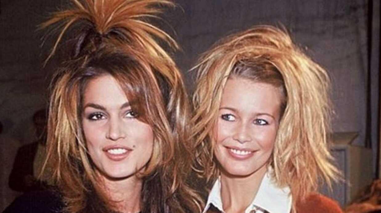 PHOTO Cindy Crawford ressort un cliché très drôle d'elle et Claudia Schiffer il y a 22 ans!