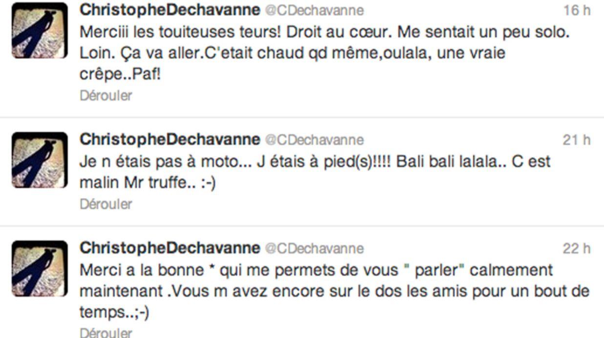 Christophe Dechavanne remercie le ciel après son grave accident