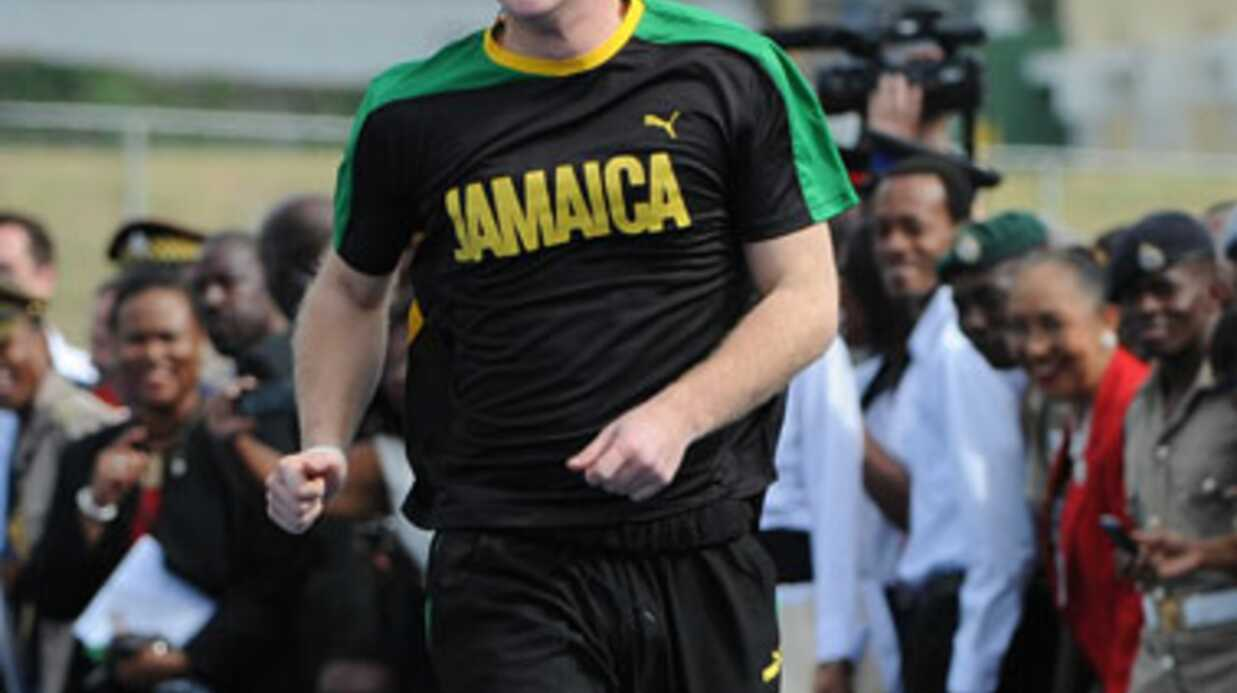 PHOTOS Le prince Harry bat Usain Bolt à la cour­se… en trichant