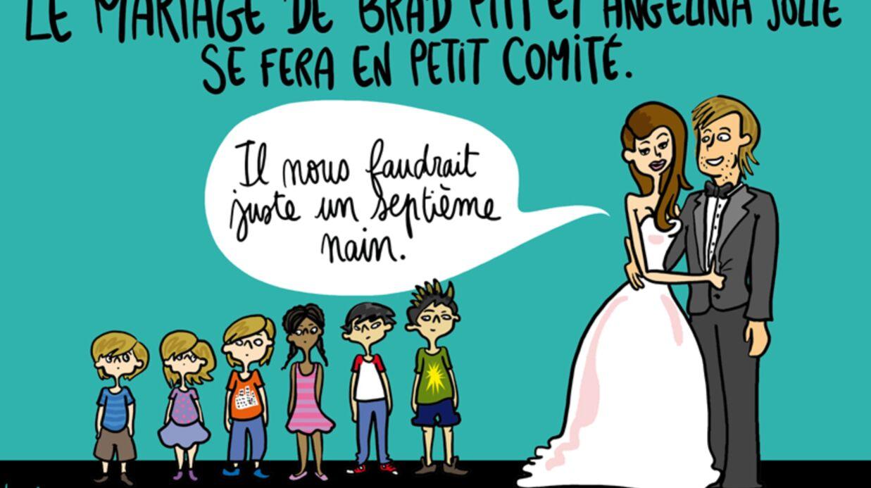 Louison a croqué…  un mariage en (très) petit comité pour Angelina Jolie et Brad Pitt