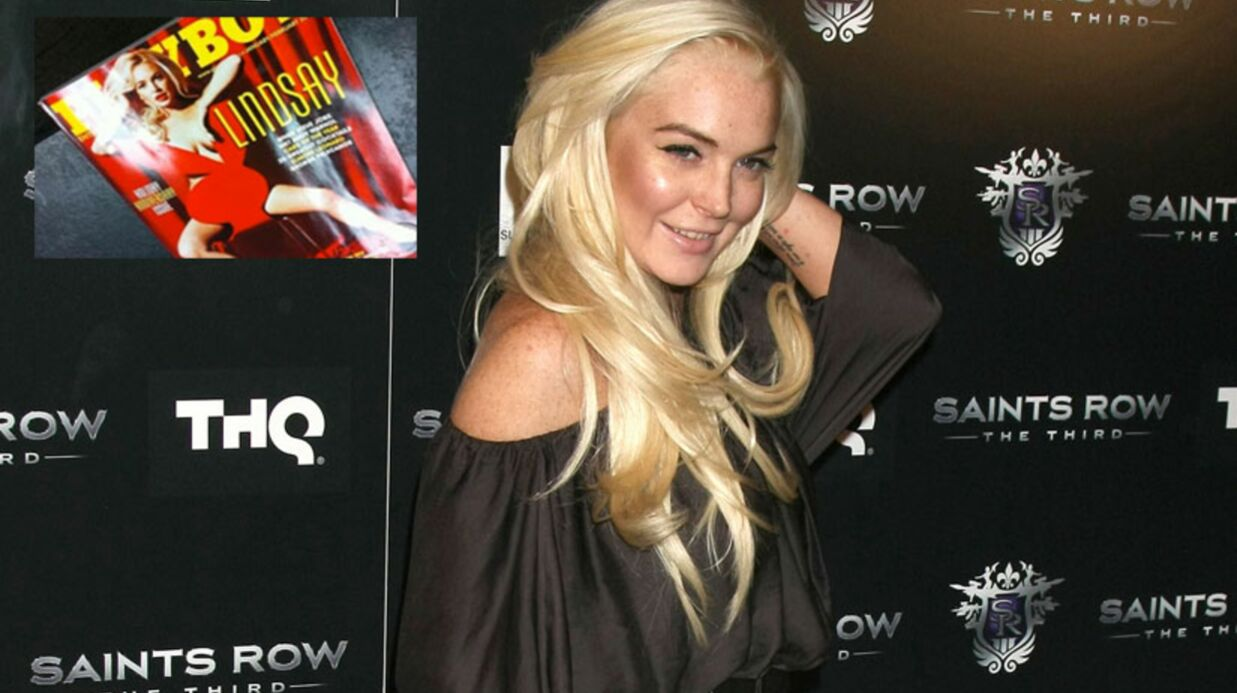 PHOTO Regar­dez Lind­say Lohan en couver­ture de Play­boy