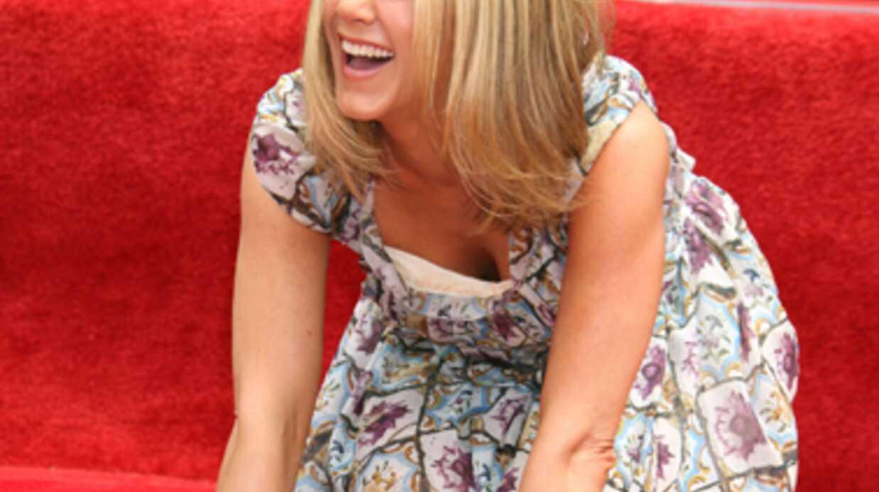 DIAPORAMA Jennifer Aniston laisse ses empreintes à Hollywood