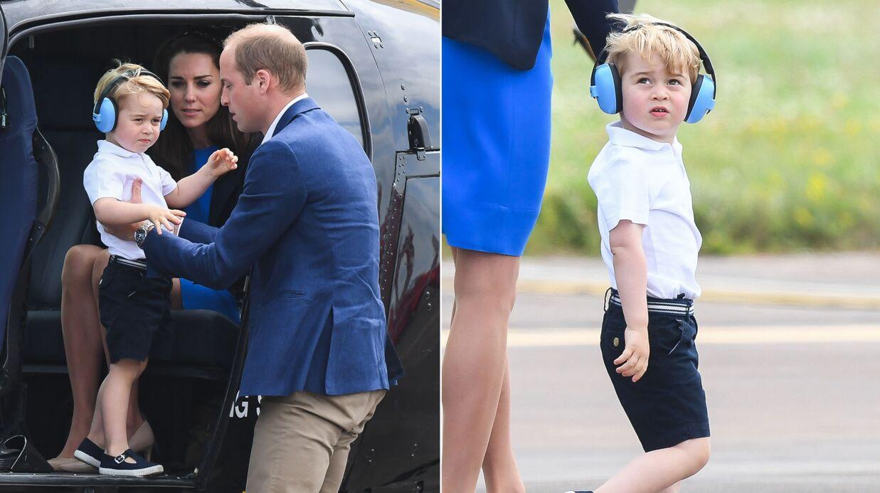 PHOTOS Le petit prince George en mode Royal Air Force: des clichés craquants