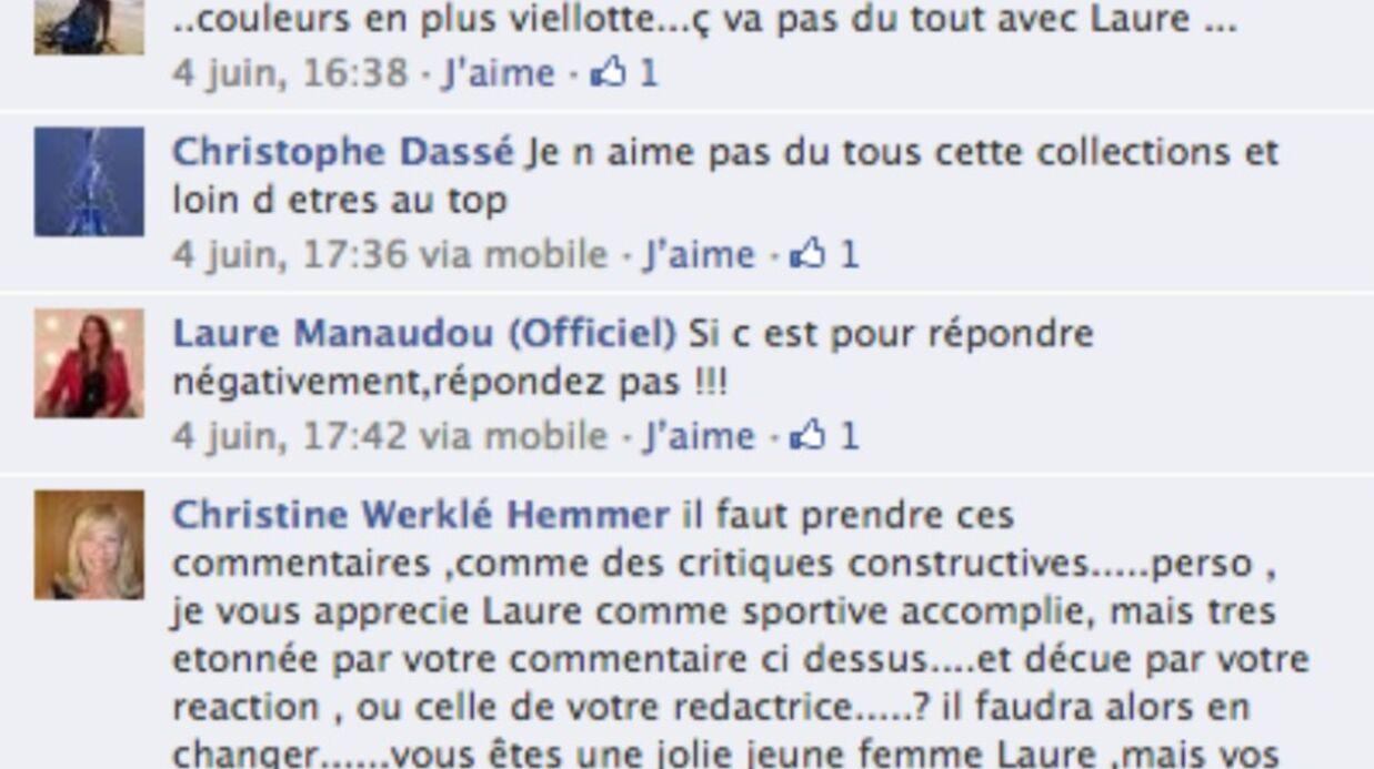 Laure Manaudou s'énerve contre ses fans sur Facebook