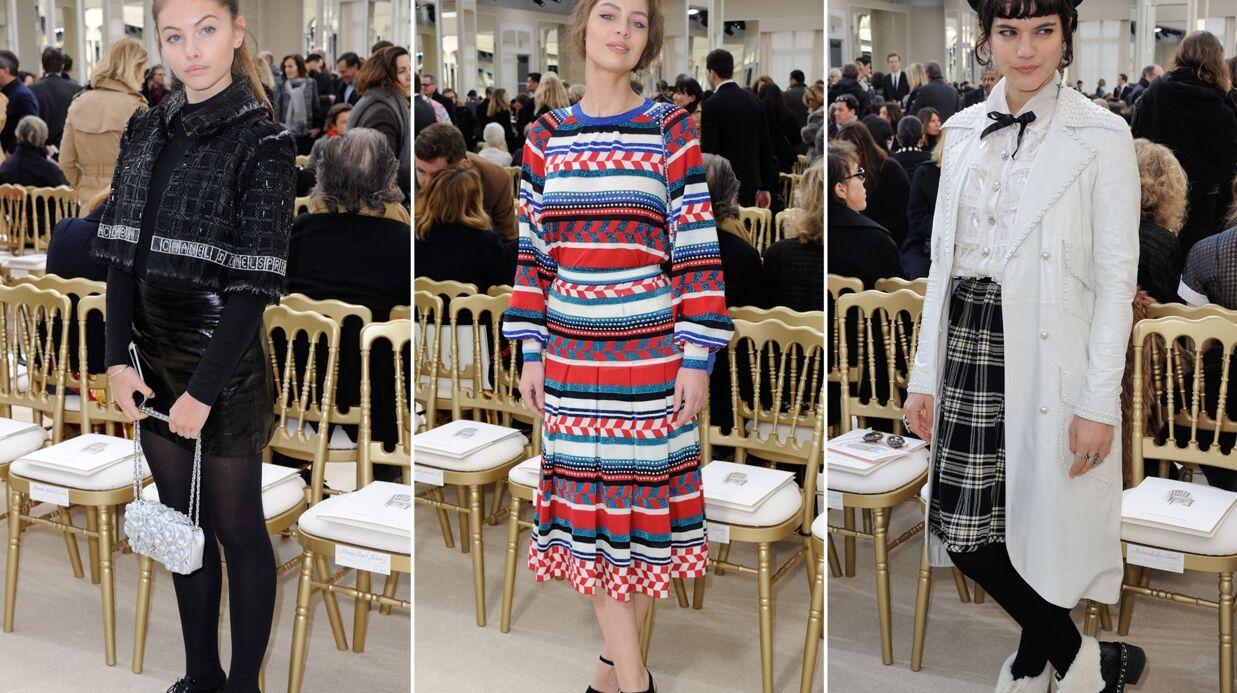PHOTOS Fashion week: Thylane Blondeau, Marie-Ange Casta, et Soko hyper chic pour Chanel