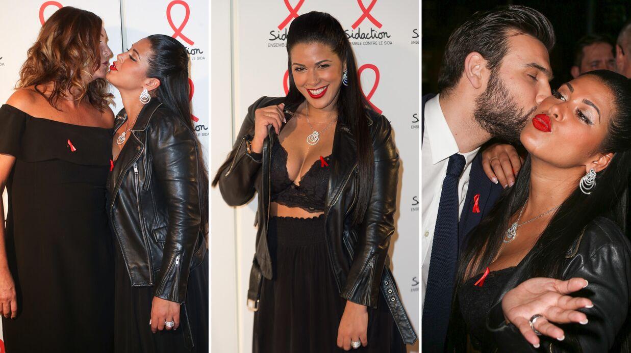 PHOTOS Ultra décolletée, Ayem Nour embrasse Evelyne Thomas sur le tapis rouge