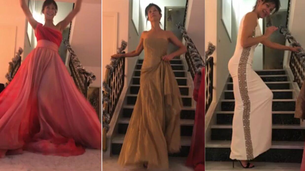 VIDEO Sophie Marceau multiplie les poses sexy (et les robes) pour la Journée des droits des femmes