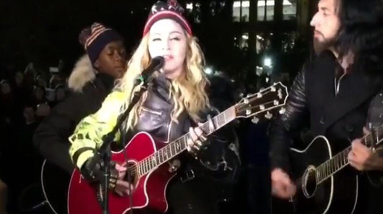 VIDEO Madonna: son concert surprise en plein New York pour soutenir Hillary Clinton