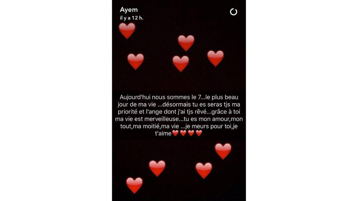 La touchante déclaration d'amour d'Ayem à son fils Ayvin pour ses trois mois