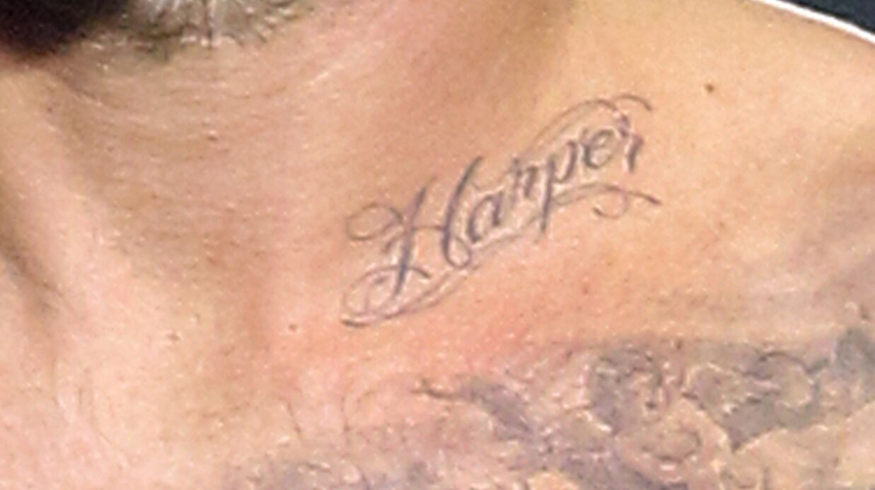 David Beckham: déjà un tatouage pour Harper