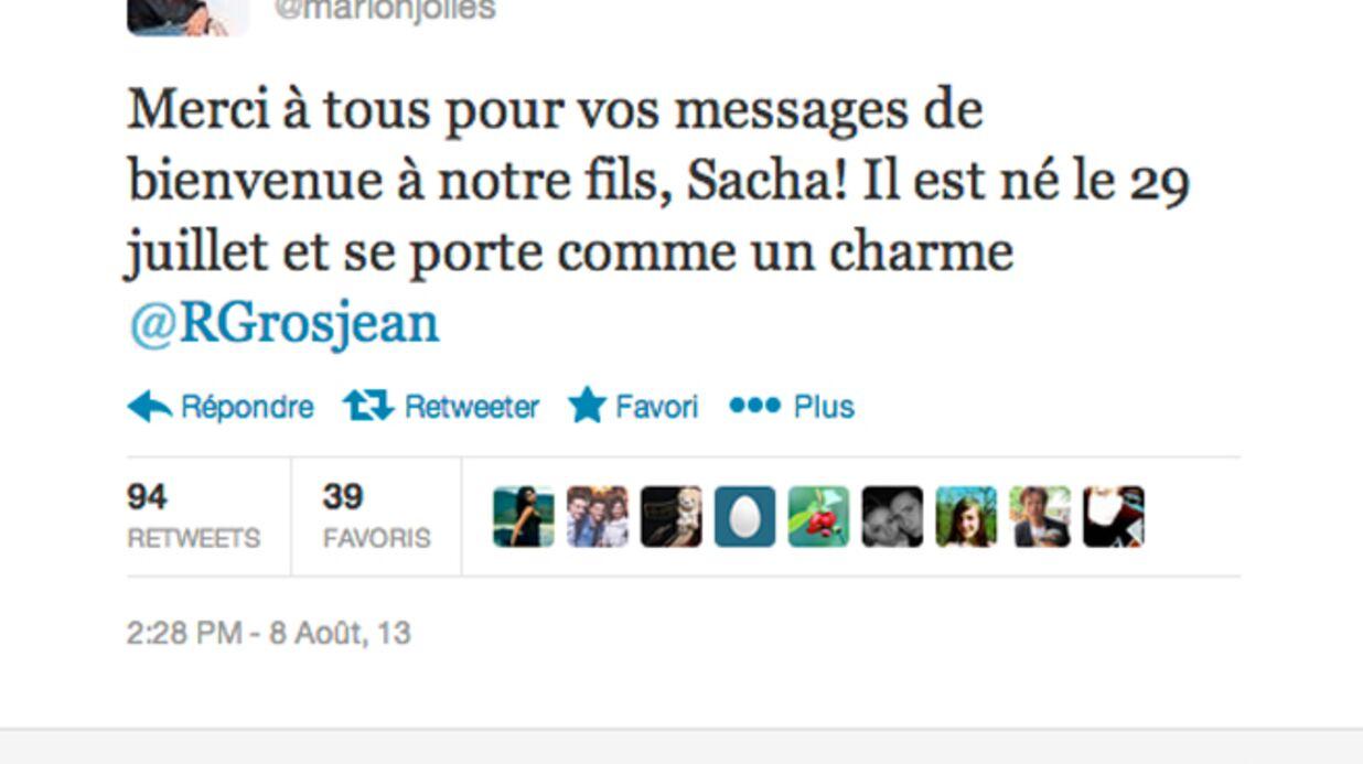 Marion Jollès et Romain Grosjean parents d'un petit garçon