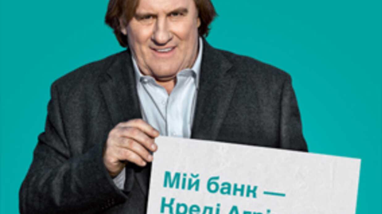 Gérard Depardieu travesti dans une pub ukrainienne pour un crédit