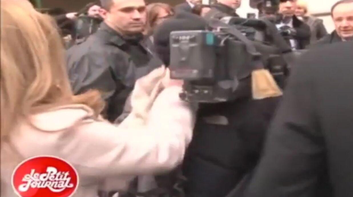 VIDEO Enervée, Valérie Trierweiler bouscule un journaliste