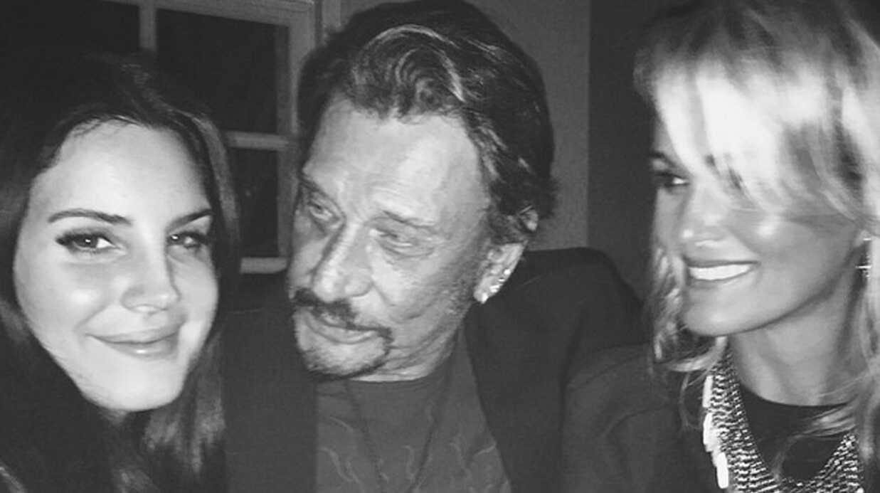 PHOTO Johnny Hally­day a invité Lana Del Rey à dîner chez lui