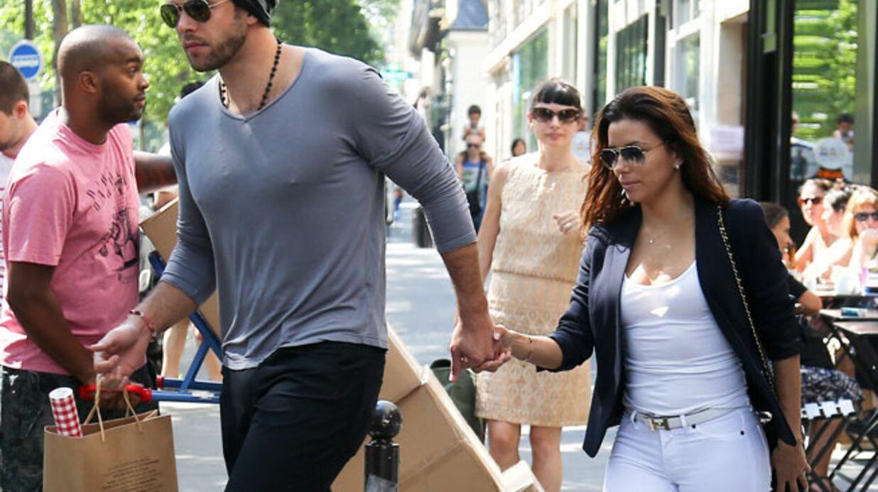 PHOTOS Eva Longoria et Ernesto quittent Paris sur une journée shopping
