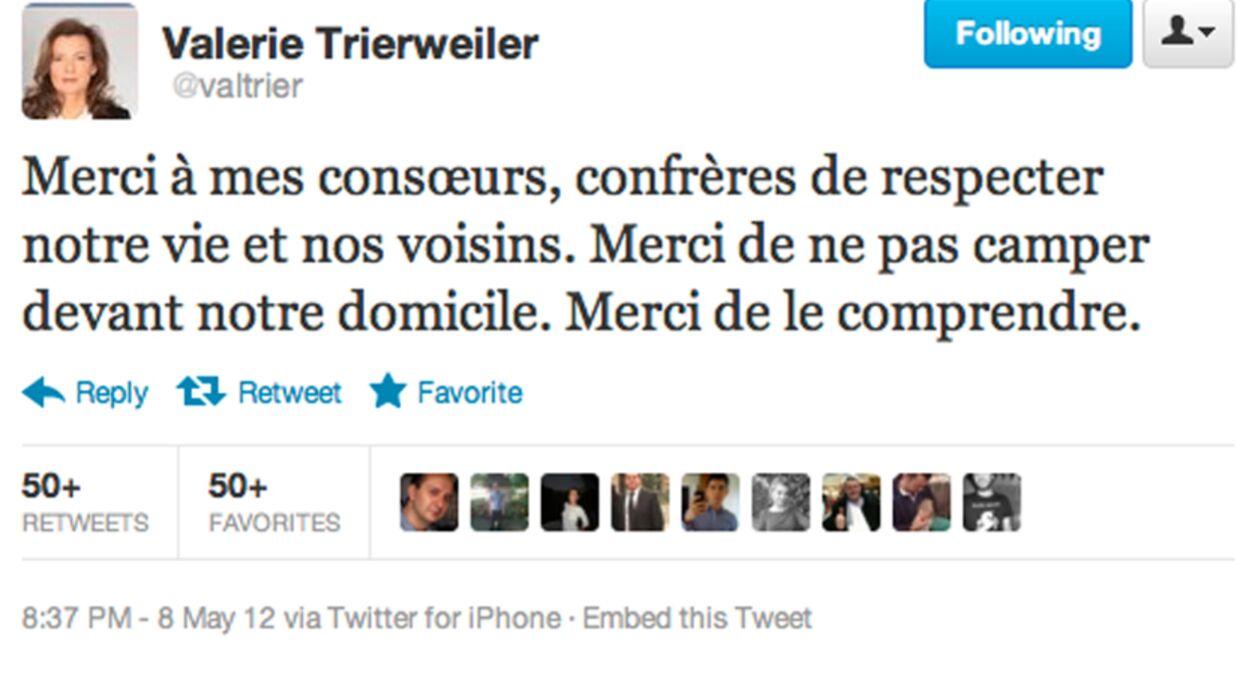 Valérie Trierweiler demande de l'intimité aux photographes