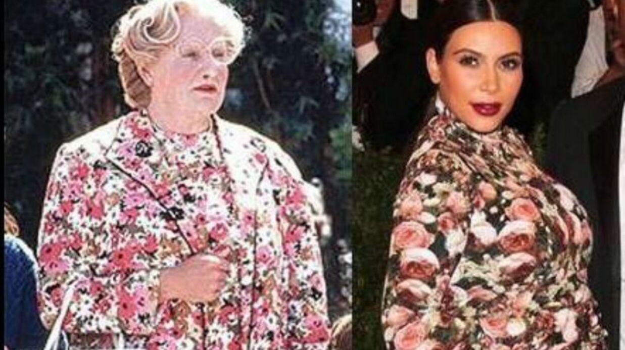 PHOTO Robin Williams se moque de la robe de Kim Kardashian