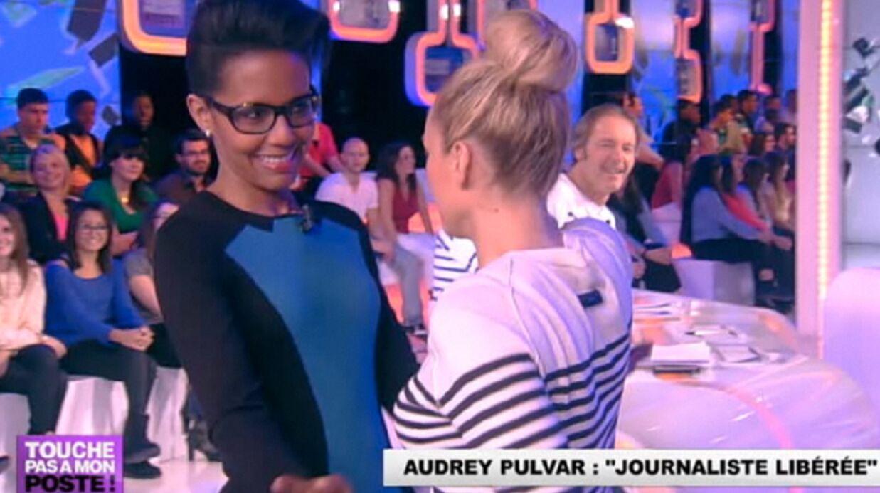 VIDEO Audrey Pulvar et Enora Malagré s'embrassent sur la bouche