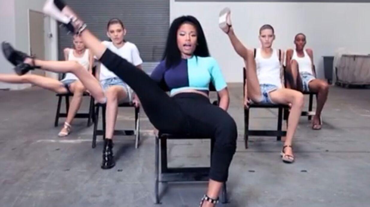 VIDEO Nicki Minaj apprend la chorégraphie d'Anaconda à des mannequins pas très doués