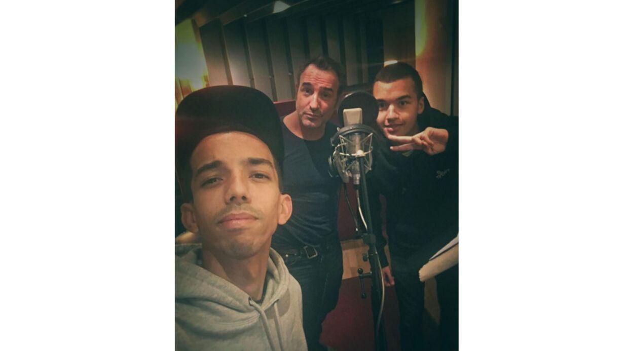 PHOTO Jean Dujardin a enregistré un morceau de rap avec Bigflo et Oli!
