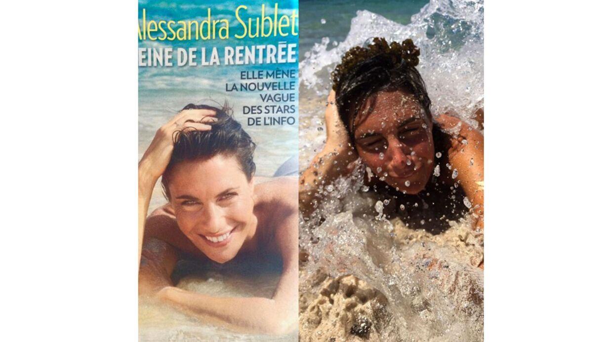 PHOTO Alessandra Sublet parodie la photo de sa Une pour Paris Match et c'est très drôle!