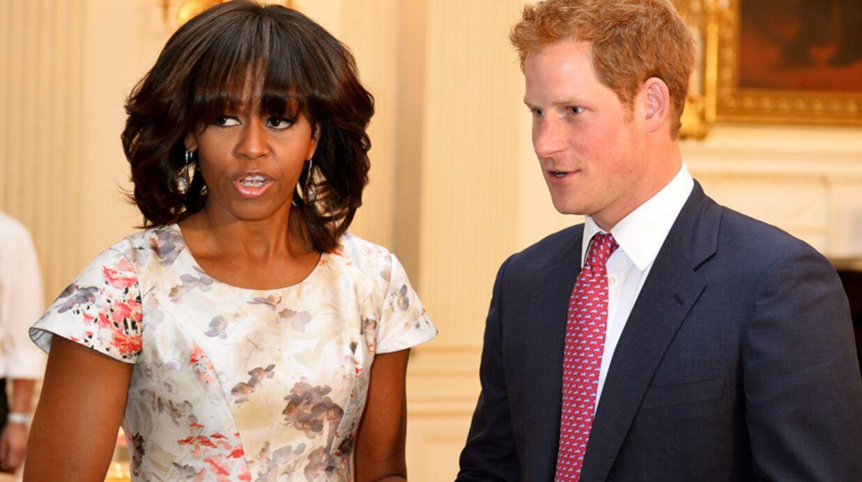 DIAPO Le prince Harry rencontre Michelle Obama à la Maison Blanche