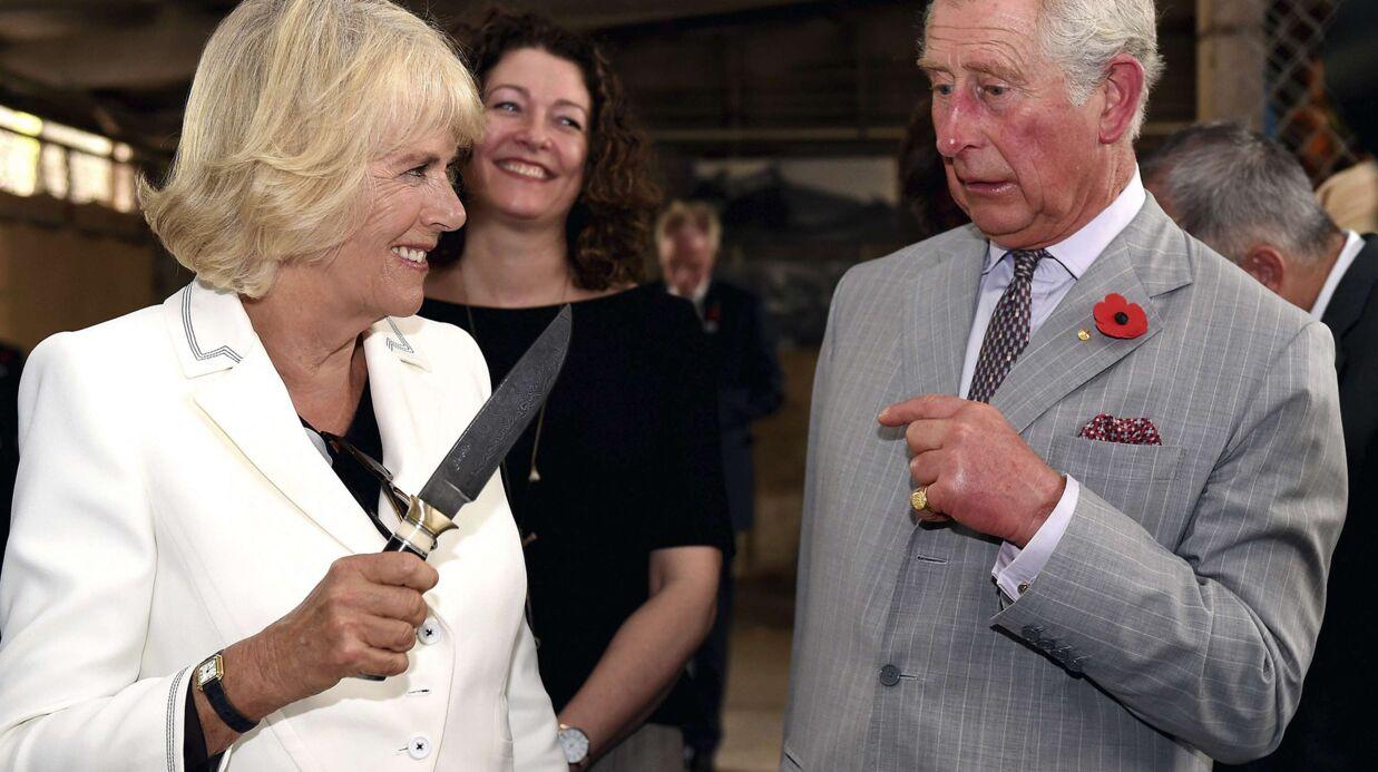 PHOTOS Le prince Charles terrifié par Camilla et son gros couteau