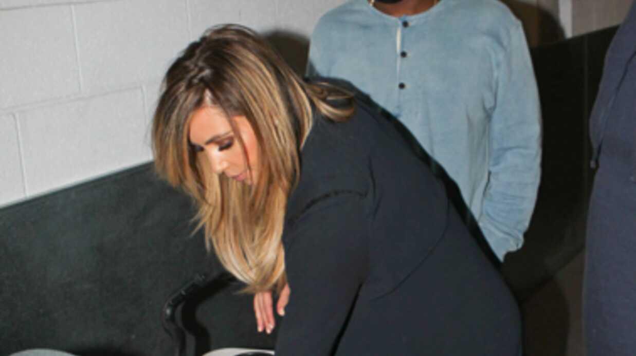 Kim Kardashian et North viennent soutenir Kanye West chez Jimmy Kimmel