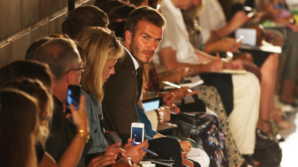 PHOTOS Victoria Beckham à la fashion week, David au premier rang