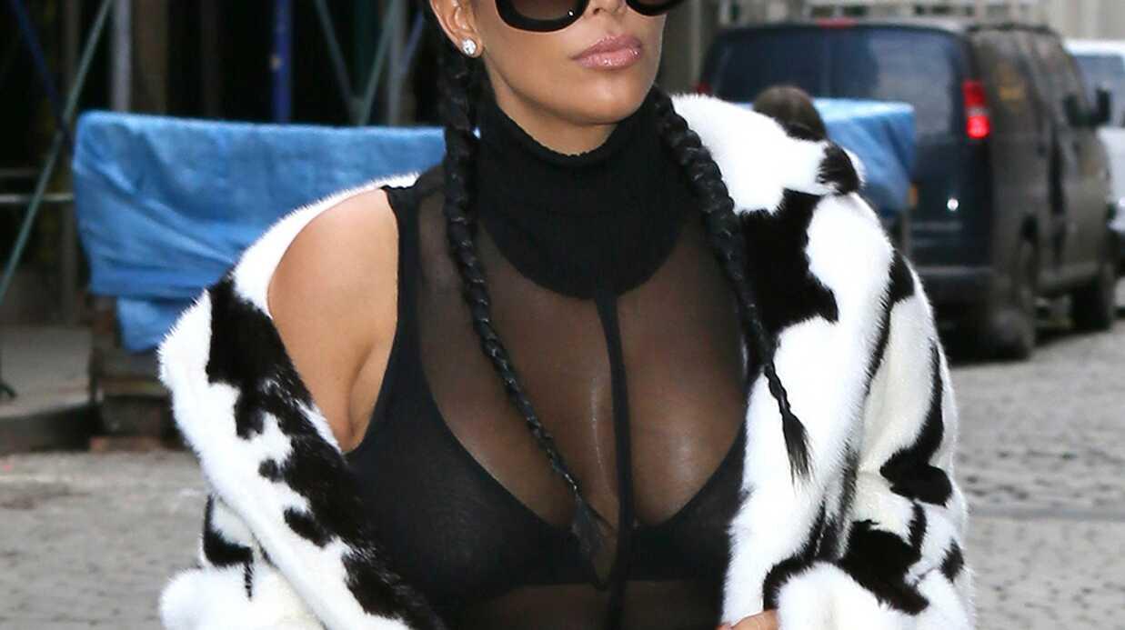 PHOTOS Kim Kardashian: poitrine au vent et fourrure bicolore, elle est VRAIMENT de retour