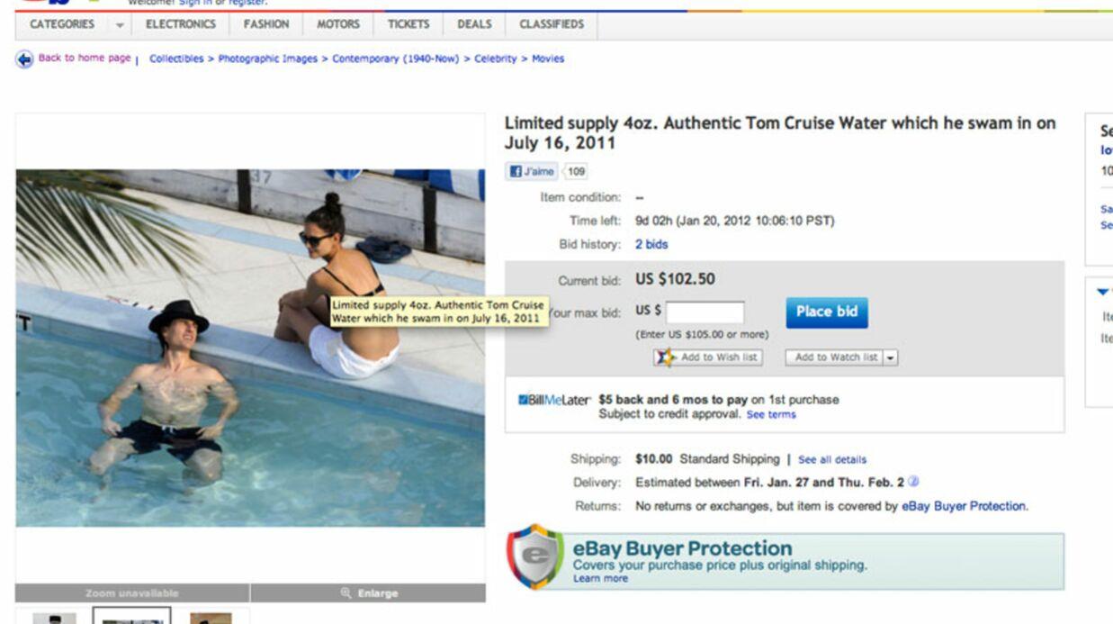 Tom Cruise: l'eau dans laquelle il s'est baigné en vente sur eBay