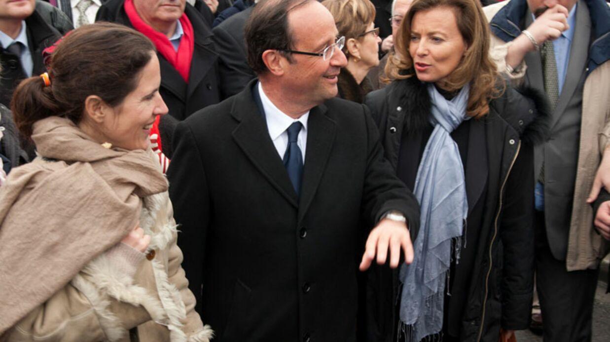 François Hollande en campagne avec sa compagne