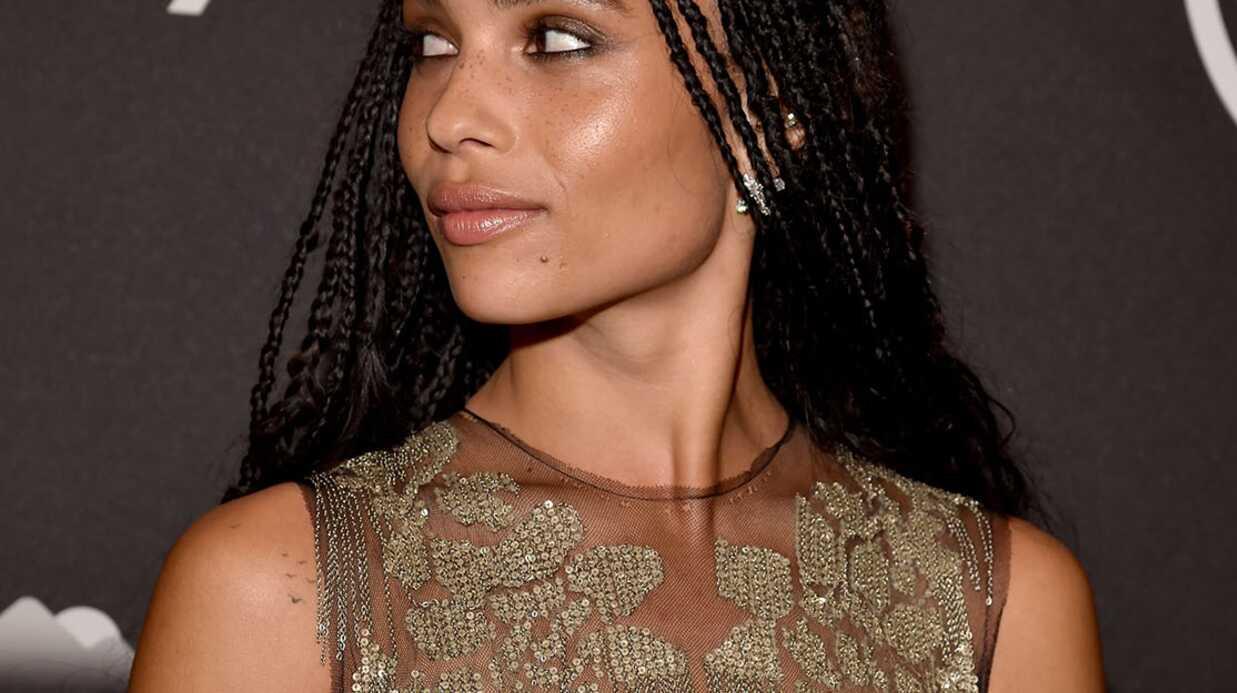 PHOTOS Zoë Kravitz seins nus sous une robe transparente pour les Golden Globes