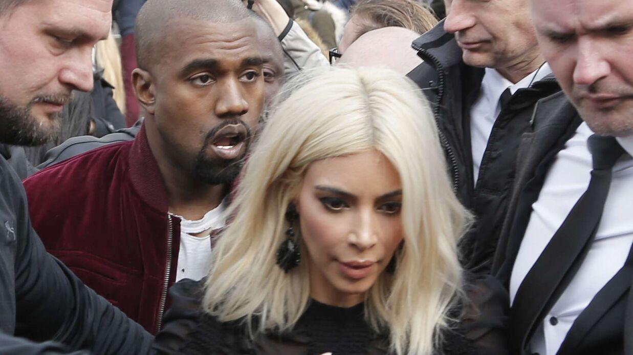 PHOTOS Kim Kardashian et Kanye West déclenchent une émeute au dernier défilé Vuitton