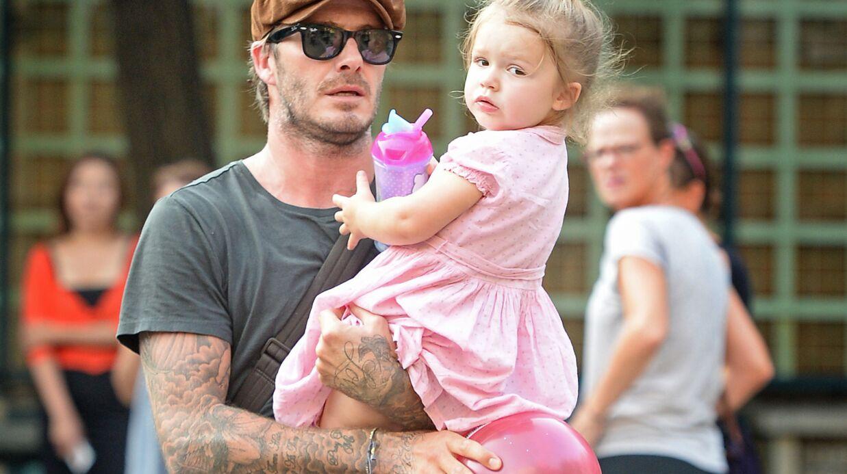 Harper Beckham, 3 ans, donne des conseils mode à son père David!