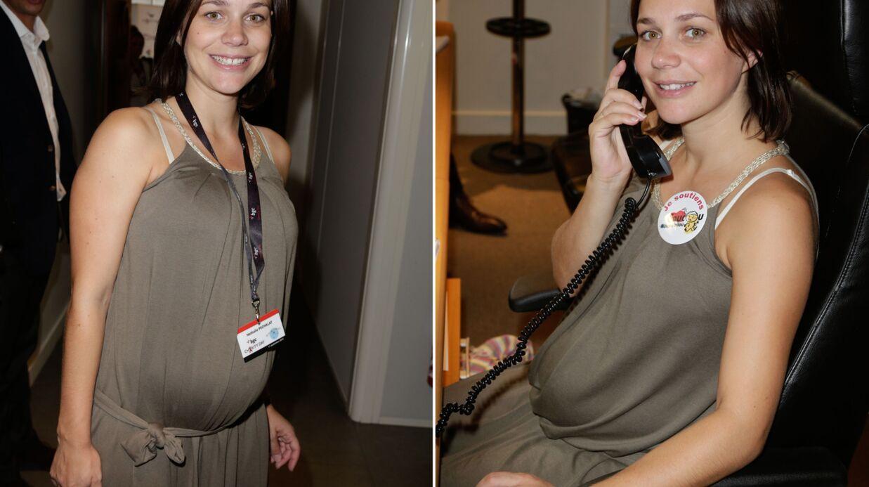 PHOTOS Nathalie Péchalat, radieuse, affiche ses rondeurs de future maman