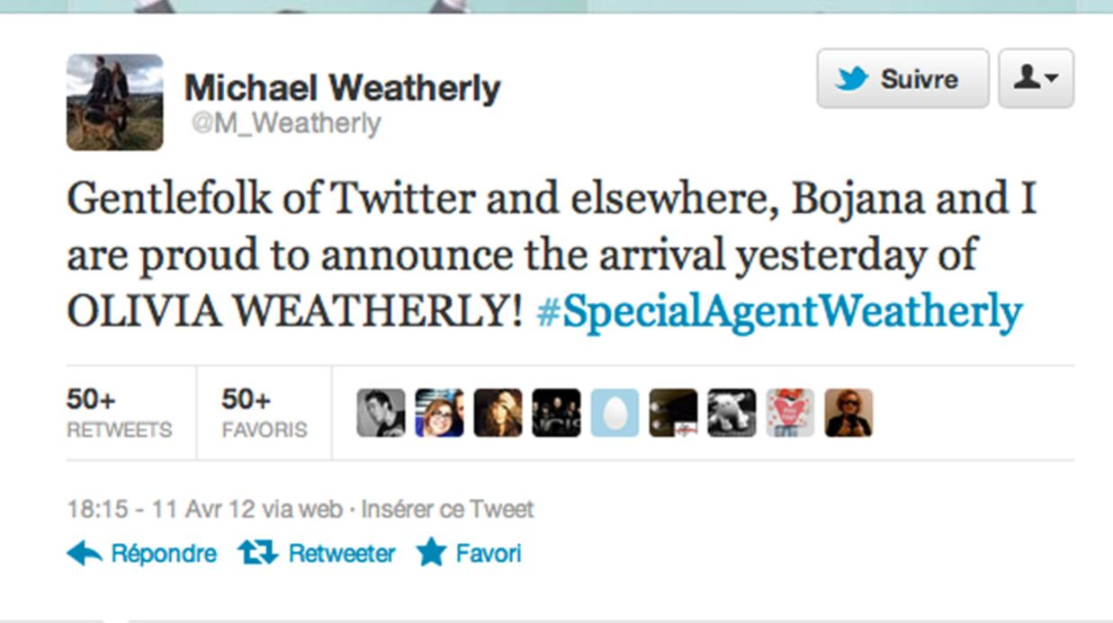 Michael Weatherly (DiNozzo de NCIS) papa