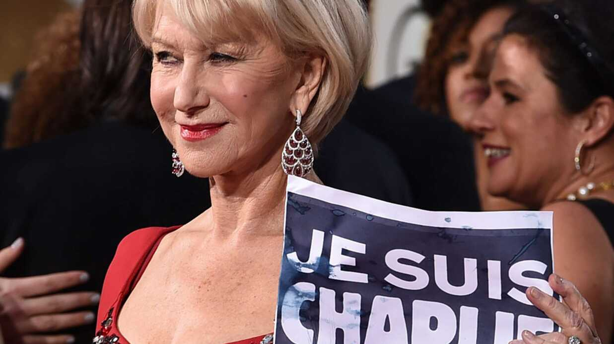 Golden Globes : Holly­wood rend hommage à Char­lie Hebdo