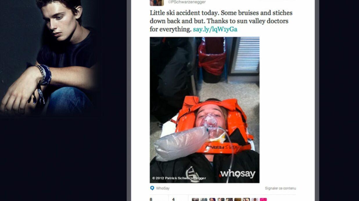 PHOTOS L'accident de ski du fils d'Arnold Schwarzenegger