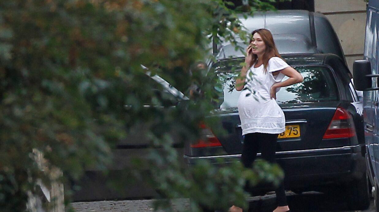 Carla Bruni, toujours enceinte, à l'Elysée pour une interview