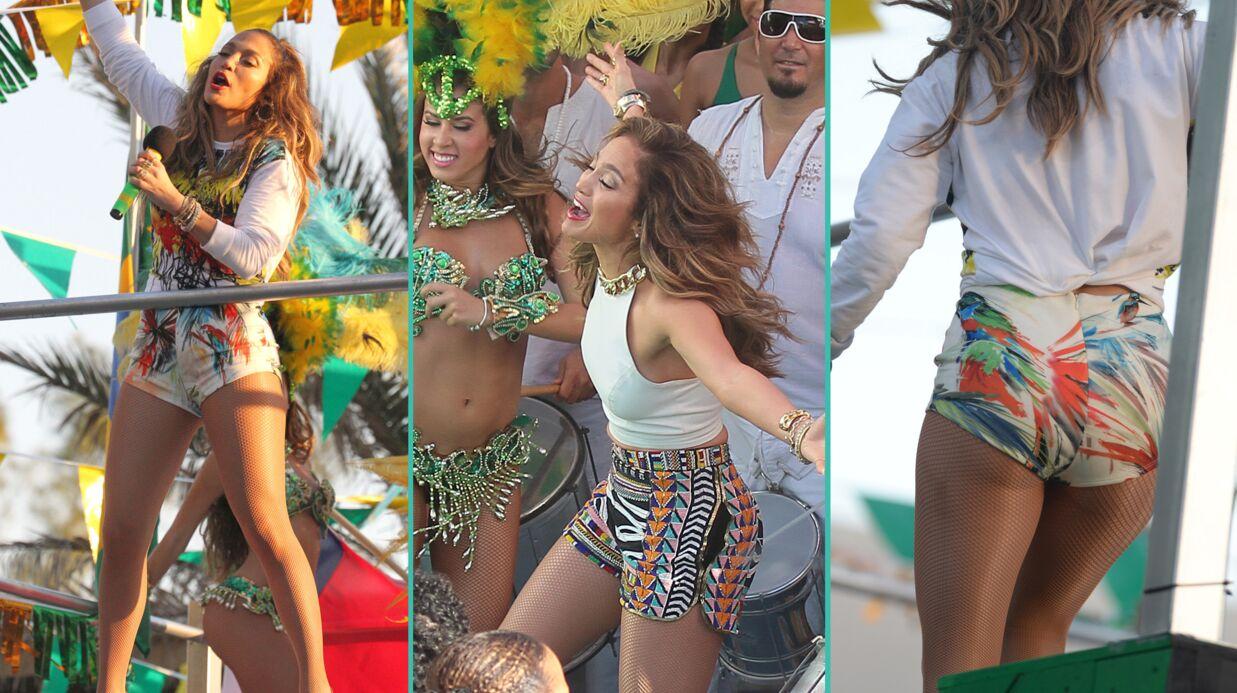 PHOTOS Jennifer Lopez sexy sur le tournage de son nouveau clip «We Are One»