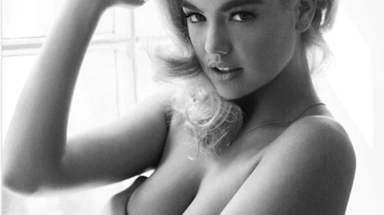 PHOTO Kate Upton: jolie pin-up topless pour un shooting en noir et blanc
